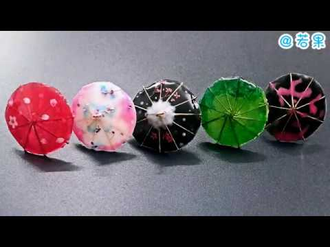 How to make oil-paper umbrella with epoxy 滴胶仿油纸伞教程