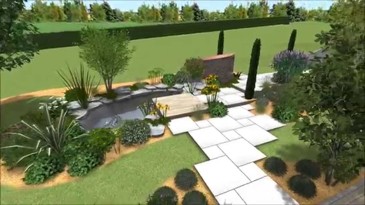Terrasses et circulations autour d 39 un bassin youtube - Jardins et terrasses photos ...