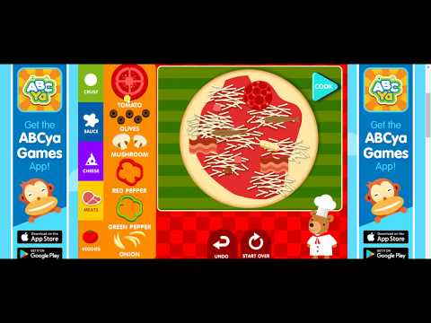 🍕 HOW TO MAKE A PIZZA GAME 🌭| ABCya FUN GAMES FOR KIDS 🍔| CHILDREN EDUCATIONAL LEARNING