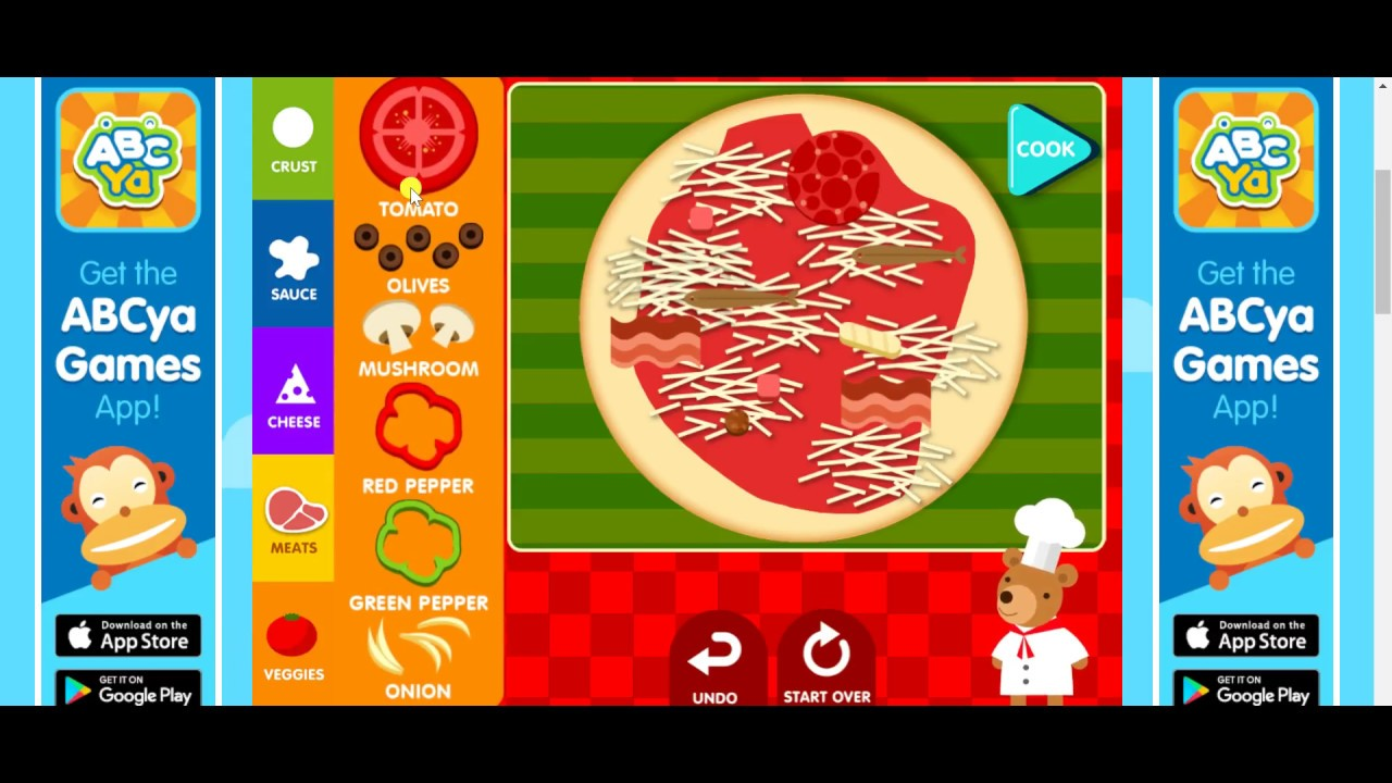 How To Make A Pizza Game Abcya Fun Games For Kids