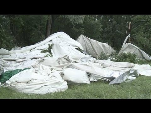 Tornado destroys East Windsor sports dome