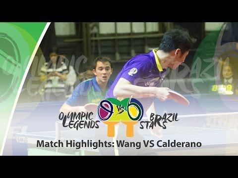 Olympic Legends vs Brazil Stars Highlights - Calderano vs Wang Liqin