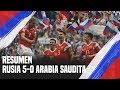 Rusia vs Arabia Saudita 5-0 - Resumen - Rusia 2018