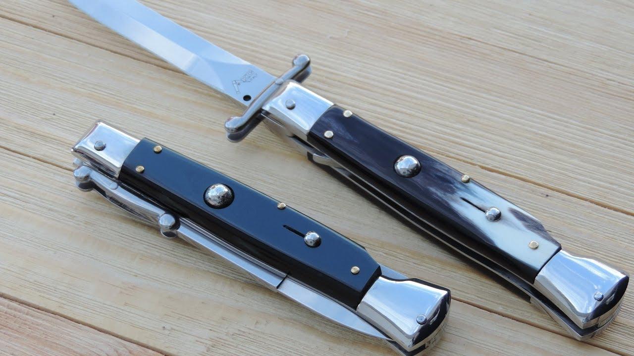AKC Italy Swinguard Stiletto Knives - Retro Knife Series
