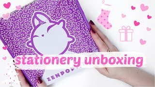 THE CUTEST JAPANESE STATIONERY | zenpop stationery unboxing ★ winter holiday pack december 2019