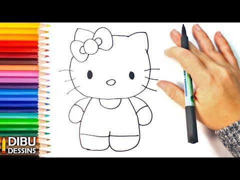 Comment Dessiner Un Hello Kitty Etape Par Etape Youtube