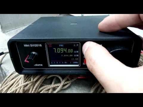 Windom antenna multiband test