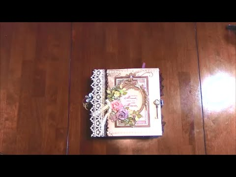 COMPLETED MINI ALBUM WITH PHOTOS - DESIGNS BY SHELLIE TRANQUIL GARDENS