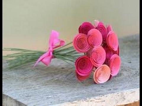 Como hacer manualidades faciles flores de papel 4 youtube - Manualidades faciles de hacer ...