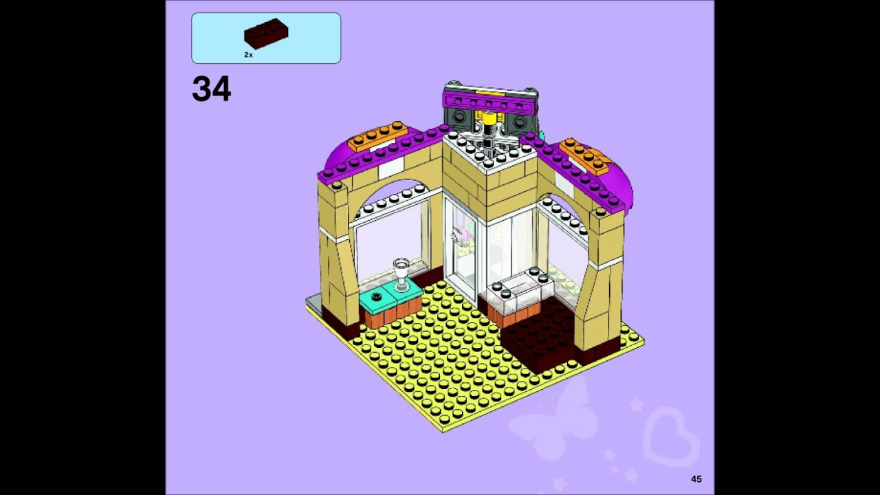 Lego Friends 41006 Downtown Bakery Building Instructions Youtube