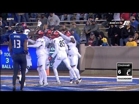 Football Highlights: CIncinnati 37, Tulsa 40 (Courtesy ESPN)