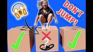 DONT JUMP INTO THE WRONG MYSTERY BOX CHALLENGE! 😱 // SoCassie