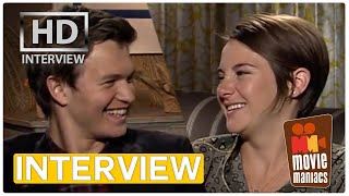The Fault In Our Stars | Shailene Woodley & Ansel Elgort Exclusive Interview BEST KISS