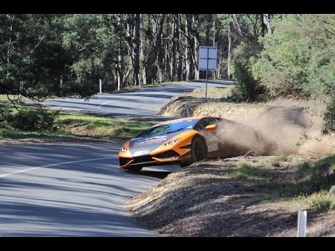 Lambo Driver Intentionally Veers Off Road, Gets Air, Just Keeps Driving