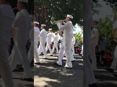 United States Navy Pacific Fleet Band Prince Kuhio Parade 2017