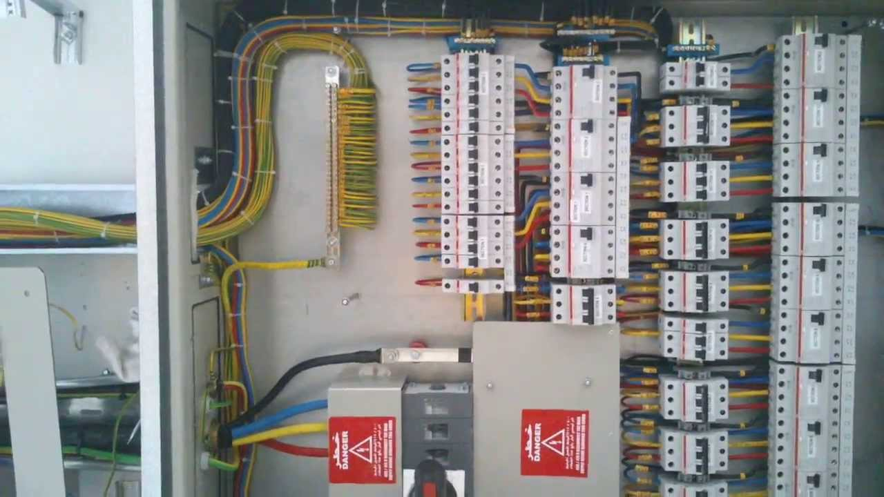 Electrical Mcb Wiring Diagram 2 Way Switch Diagrams Three Phase Db Dressing In Dubai Multiline - Youtube