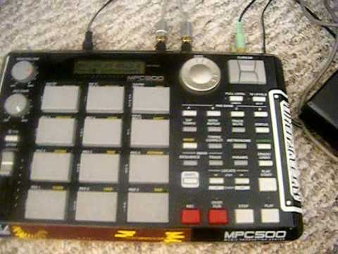 mpc 500 tutorials- sampling keyboards and synthesizers