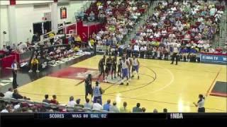 Jeremy Lin vs. John Wall - Mavs vs. Wiz Summer League 2010 Highlights