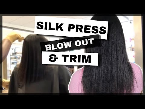 SILK PRESS AND TRIM | BABYLISS PRO | WATCH ME WORK | RELAXED HAIR