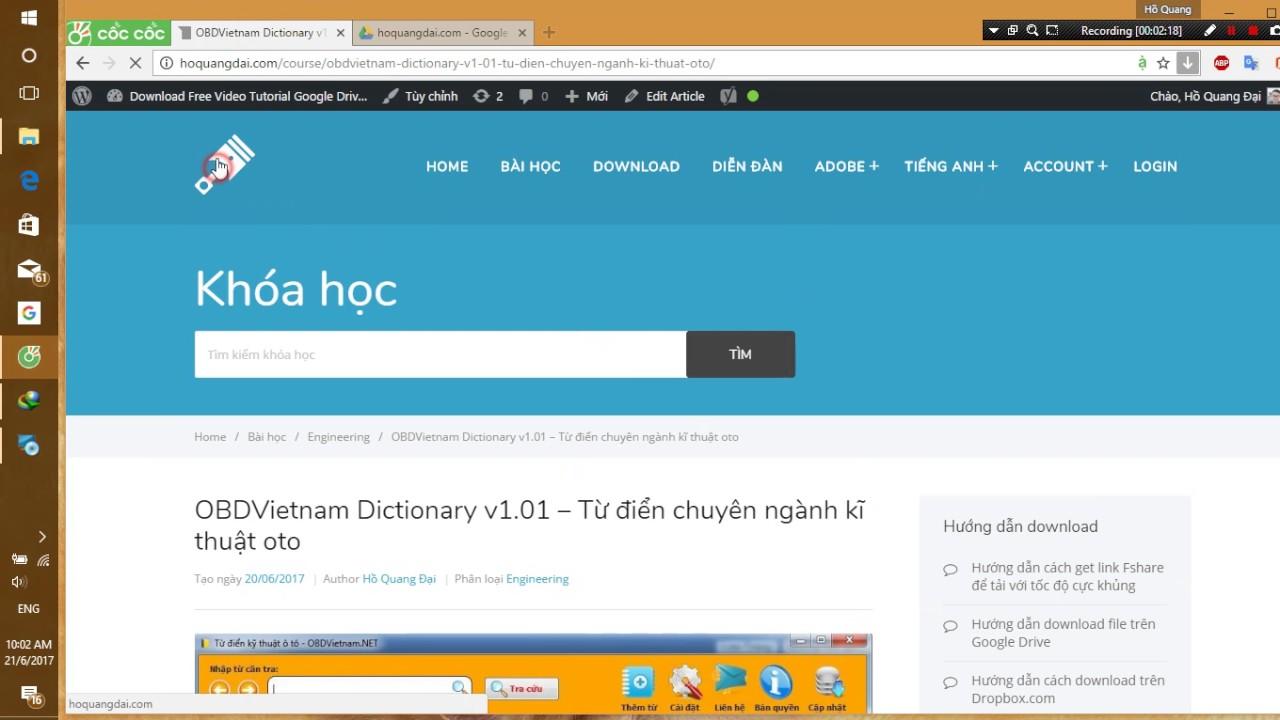 Từ điển chuyên ngành kĩ thuật ô tô – Hướng dẫn cài đặt OBDVietnam Dictionary v1.01