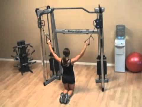 GDCC200 Cable Crossover Exercises - Kneeling Lat Pull down - YouTube