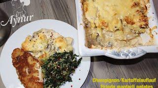 Firinda mantarli patates tarifi # firinda mantarli patates nasil yapilir?