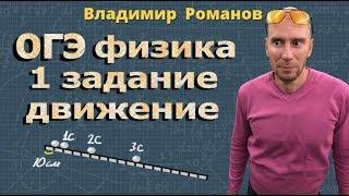 ФИЗИКА ОГЭ 1 задание разбор МЕХАНИЧЕСКОЕ ДВИЖЕНИЕ