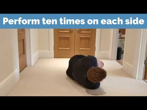 Upper Back Stretch - Open The Book | Epsom Chiropractor