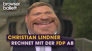 Christian Lindner rechnet mit der FDP ab
