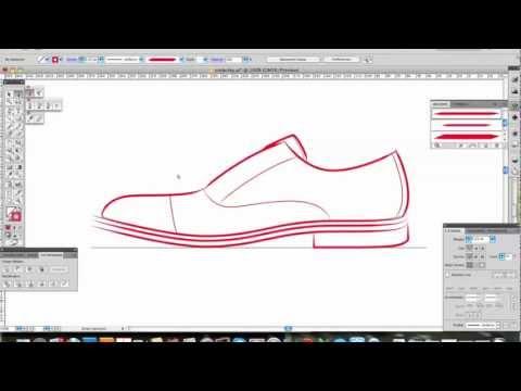 Footwear Design in Illustrator- part 1 sketching