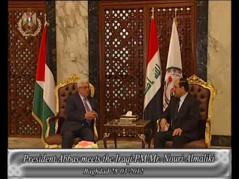 President Abbas meets the Iraqi PM Mr. Nouri Almaliki