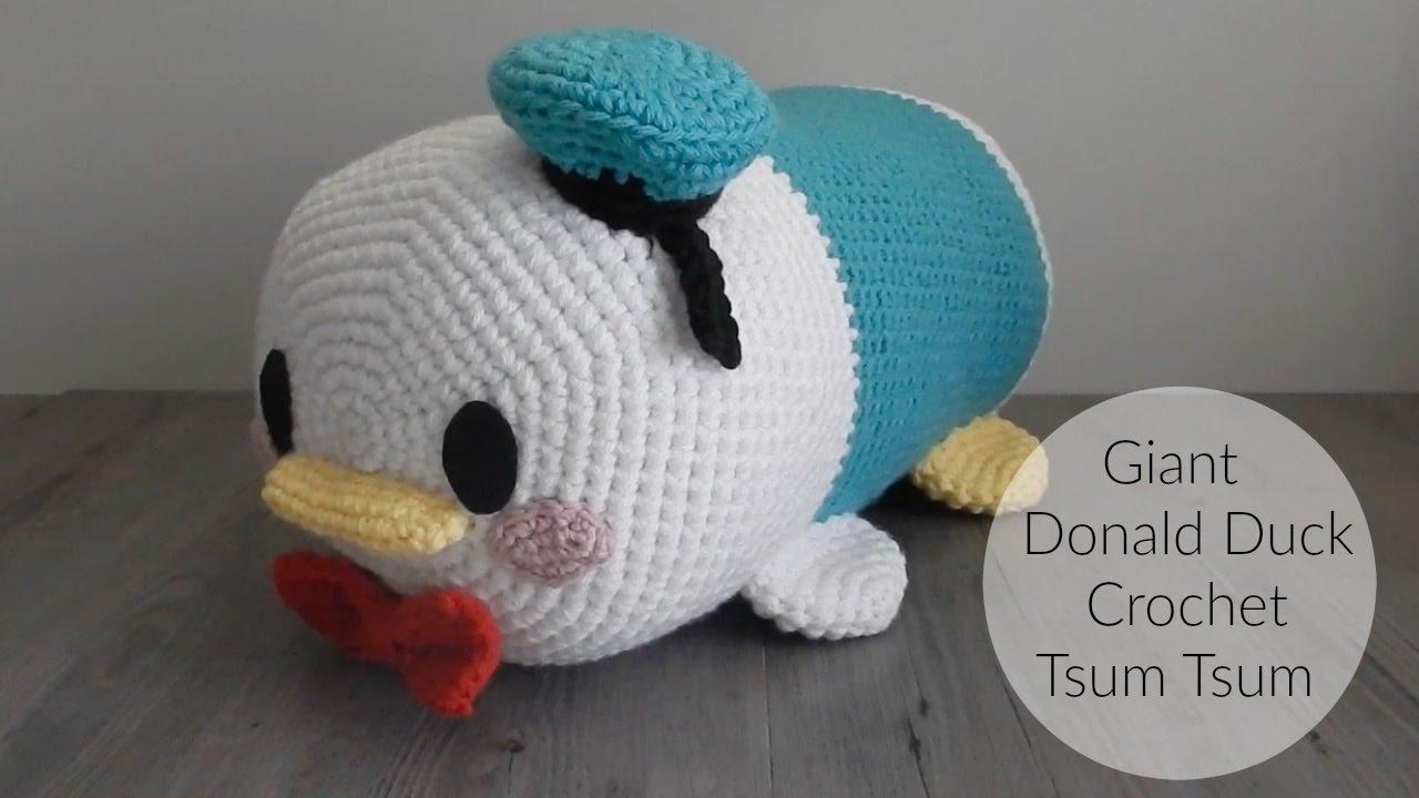 Tsum Tsum Amigurumi Pattern Free : Amigurumi how to make giant donald duck tsum tsum youtube