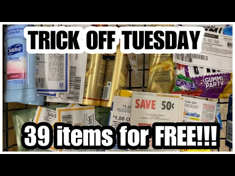 DOLLAR TREE COUPONING | 39 Items For FREE!!!+ I Wanna Quit Doing Trick Off Tuesday 🤷