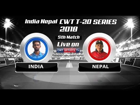 CWT T20 SERIES 2018 INDIA VS NEPAL Mulpani Cricket Stadium KATHMANDU NEPAL 5th Match