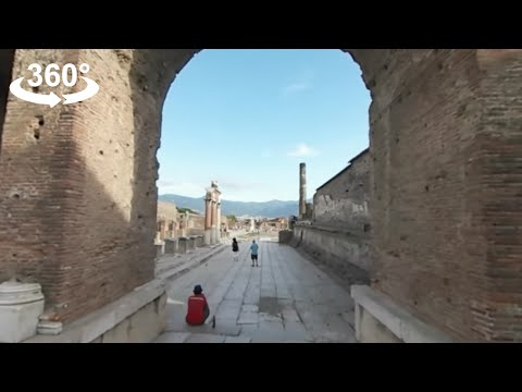 The ruins of ancient Pompeii, ITALY, 360 video
