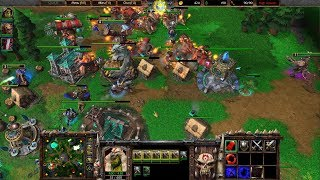 Warcraft 3 Reforged Beta Gameplay, Orc 2v2, 1080p60, Max Settings