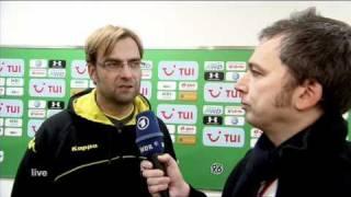 Hannover - BVB - Jürgen Klopp + Zeigler klären nach dem 0-4 schonungslos auf