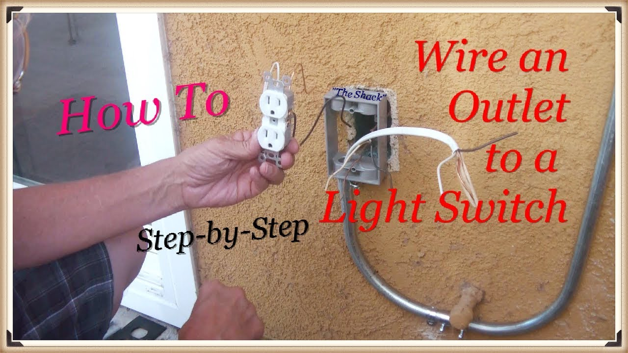 How To Wire An Outlet Off A Switch The Shack Youtube