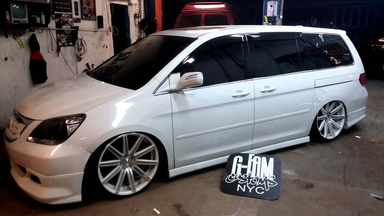 Air Bagged Honda Odyssey G Fam Customs Nyc Youtube