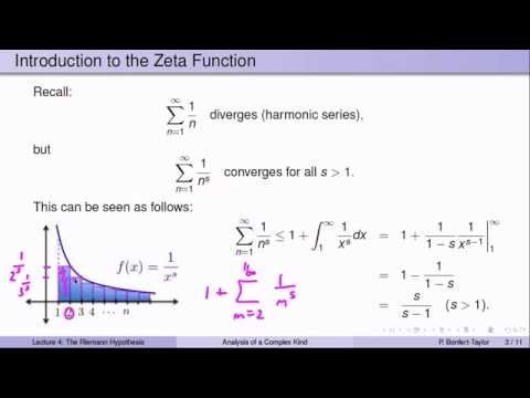 Week6Lecture4: The Riemann Zeta Function and the Riemann Hypothesis