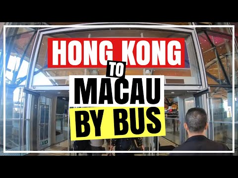 HOW TO TRAVEL FROM HONG KONG TO MACAU BY BUS - Step By Step Guide | Froi and Geri