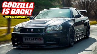 SHE'S FINALLY BACK! Here's What Happened To Our Nissan Skyline R34 GT-R VSPEC! (Why It Disappeared)