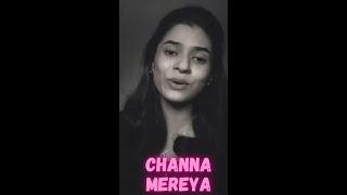 She has nailed it😍🥰🥰🤩👀 ( Channa Mereya Female Cover)   Arijit Singh Song #shorts