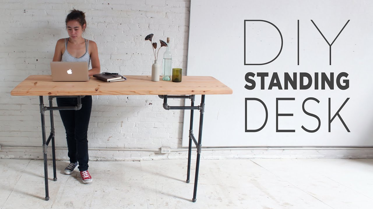 DIY Standing Desk - YouTube