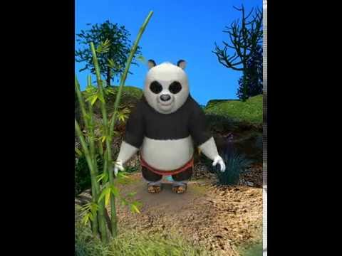 Funny Talking Panda with Moves!
