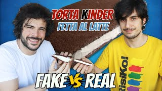 Kinder Fetta al Latte GIGANTE (Fake vs Real) | Cucina Buttata