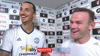 Zlatan Ibrahimovic after making his Premier League debut for Manchester United