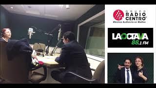 Entrevista en Radio Centro.
