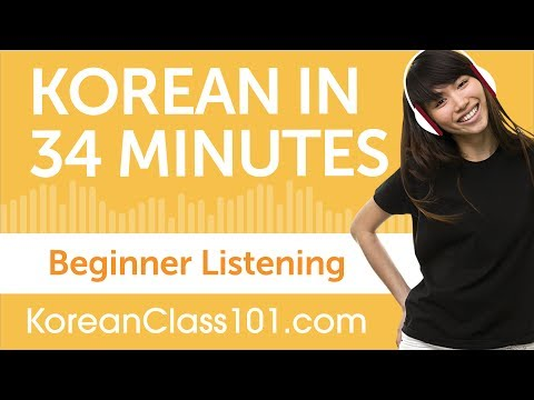 34 Minutes of Korean Listening Comprehension for Beginner