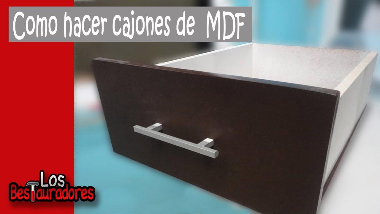 Como hacer cajones en MDF - YouTube